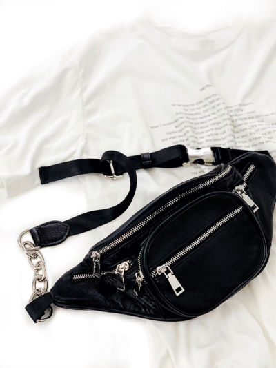 Real leather body bag
